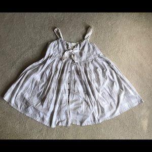 Anthro Dolan Plaid Front Button Cami Dress Size S